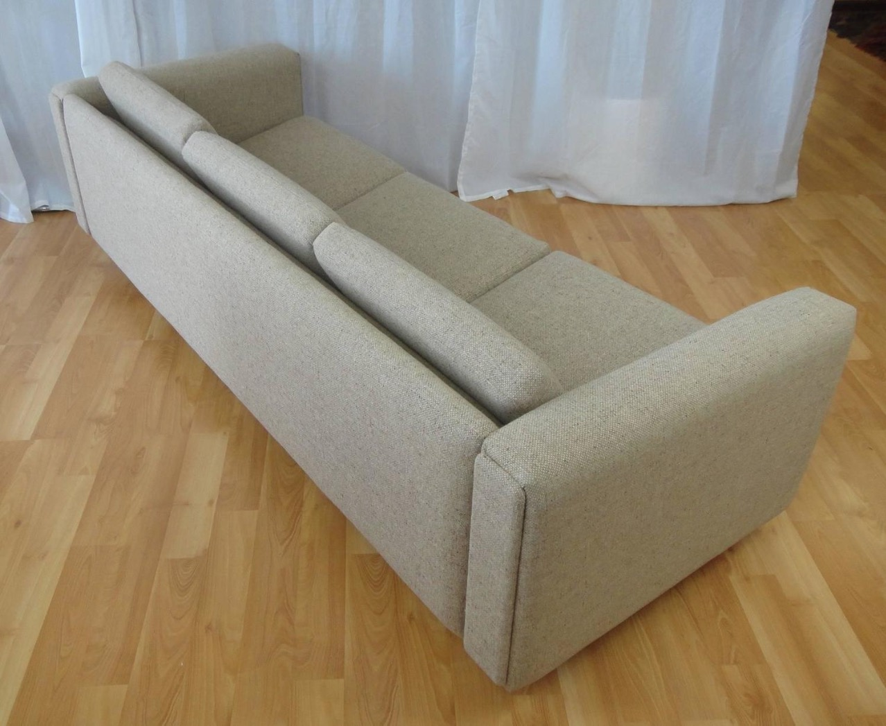 Rare Three Seat Sofa And Matching Club Chair By Hans