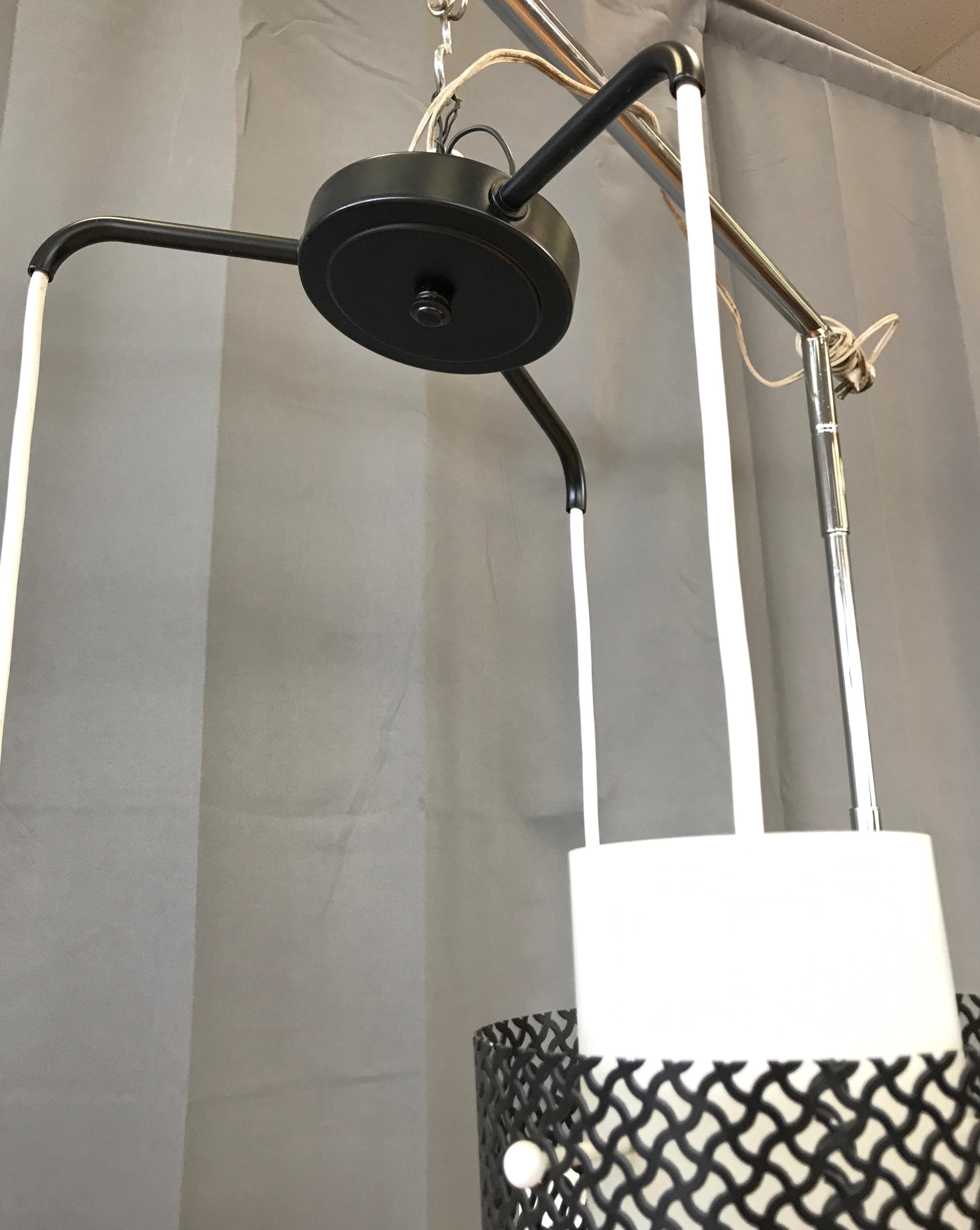 Mid Century Modern Triple Pendant Ceiling Light Fixture