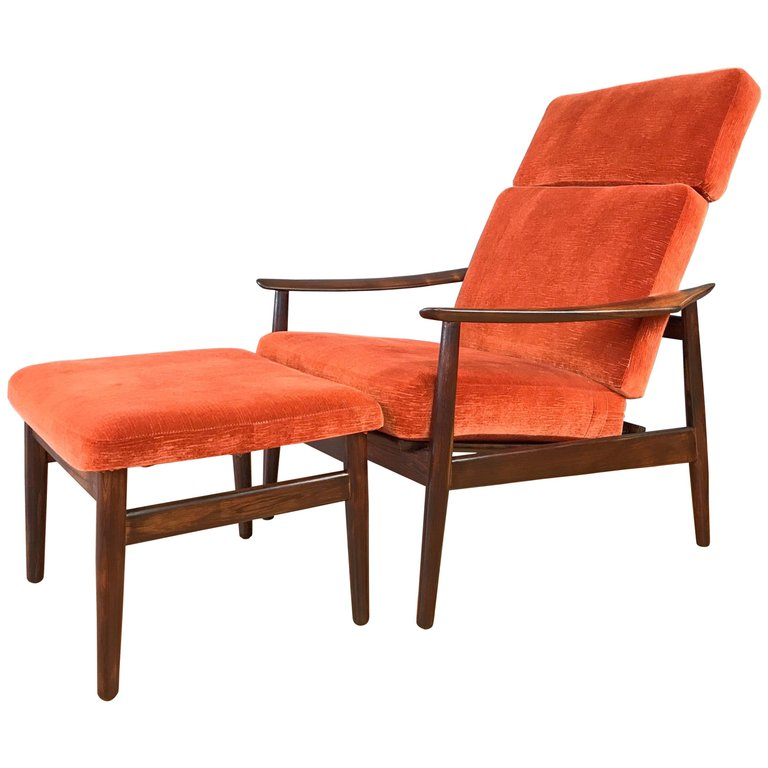 Arne Vodder For France Amp Son Rosewood Reclining Lounge